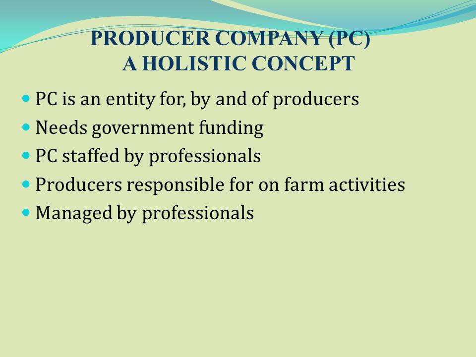 PRODUCER COMPANY (PC) A HOLISTIC CONCEPT