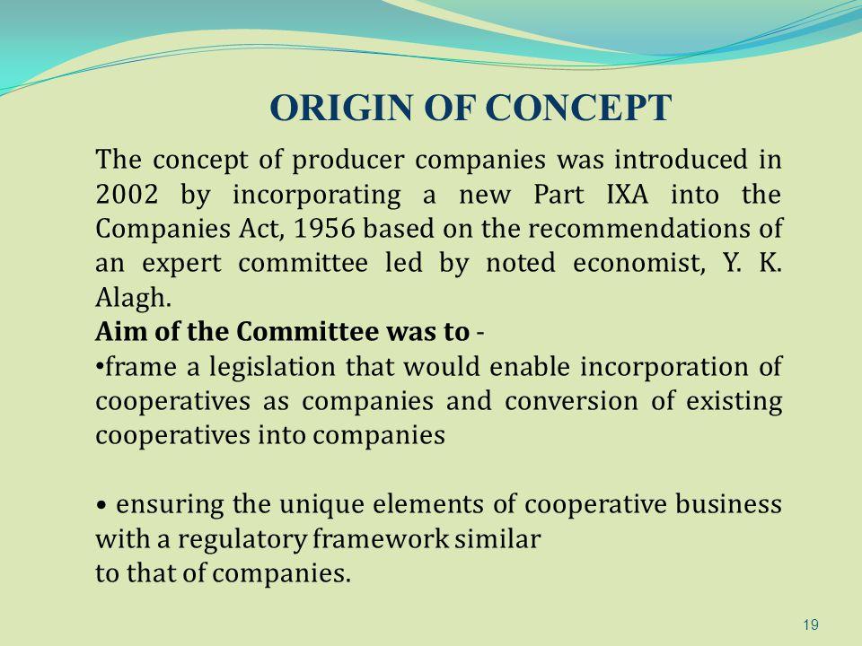 ORIGIN OF CONCEPT