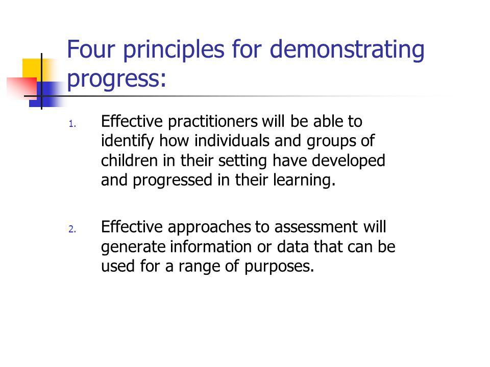 Four principles for demonstrating progress: