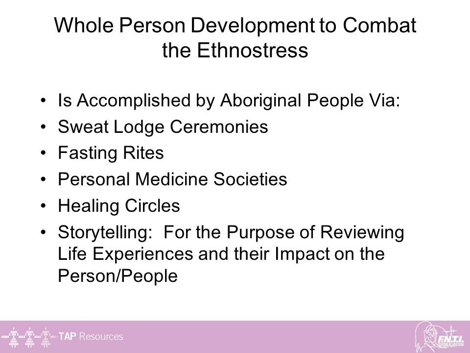 Whole Person Development to Combat the Ethnostress