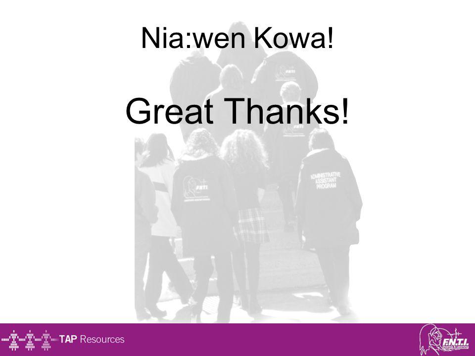 Nia:wen Kowa! Great Thanks!