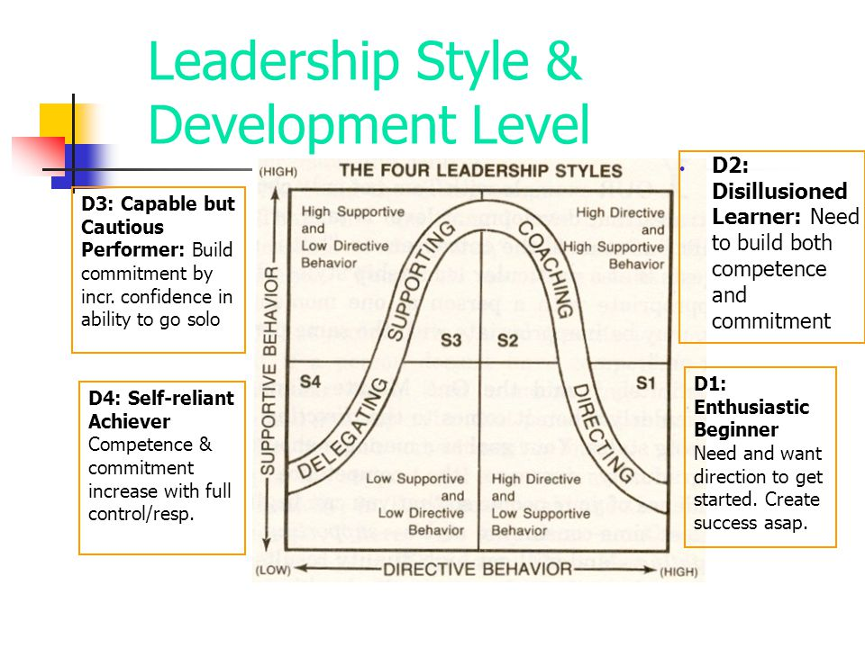 Leadership Style & Development Level