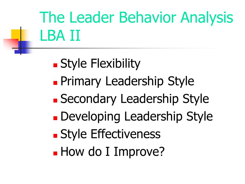 The Leader Behavior Analysis LBA II