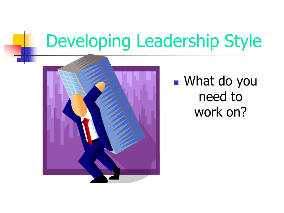 Developing Leadership Style