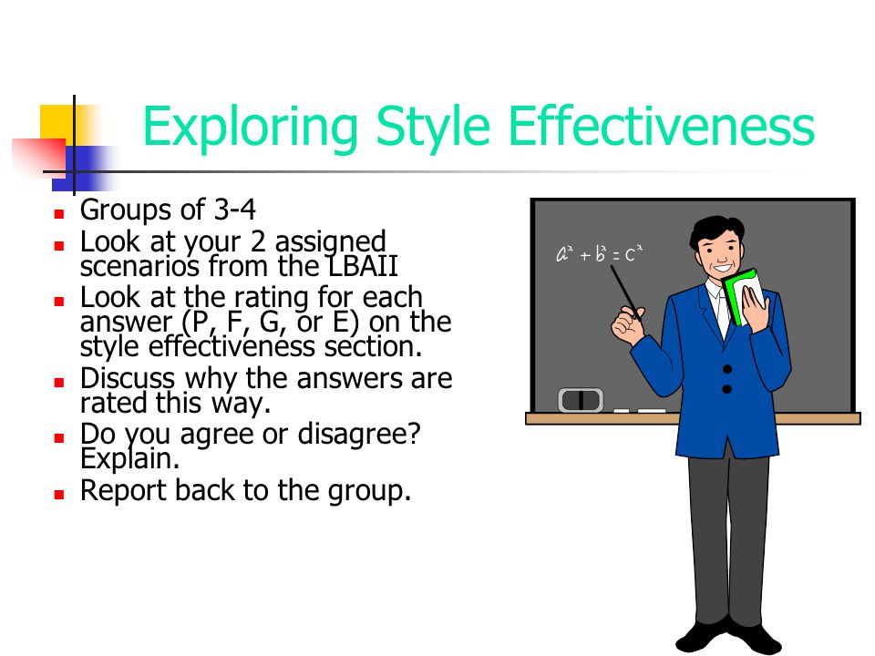 Exploring Style Effectiveness