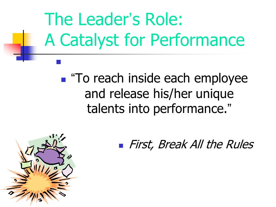 The Leader's Role: A Catalyst for Performance