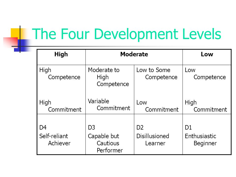 The Four Development Levels