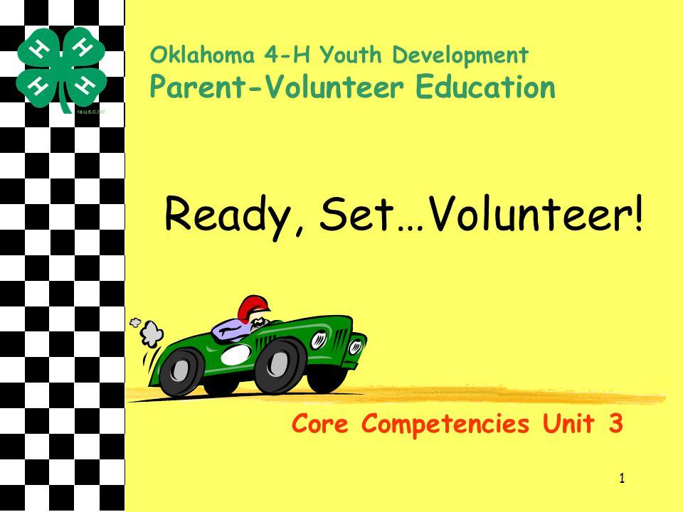 Ready, Set…Volunteer! Parent-Volunteer Education