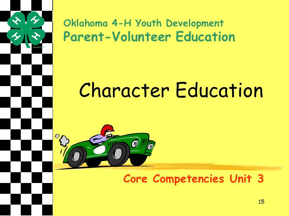 Character Education Parent-Volunteer Education
