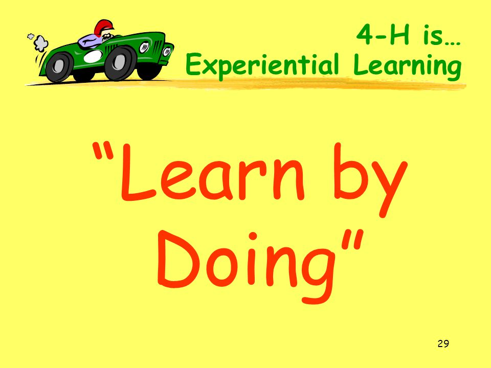 4-H is… Experiential Learning