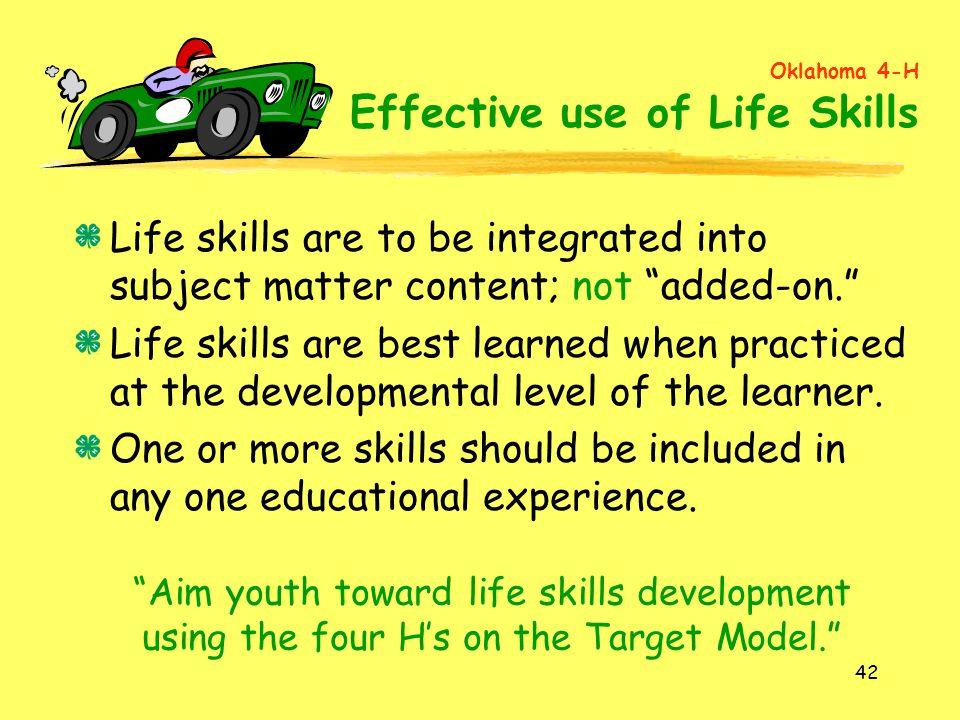 Oklahoma 4-H Effective use of Life Skills