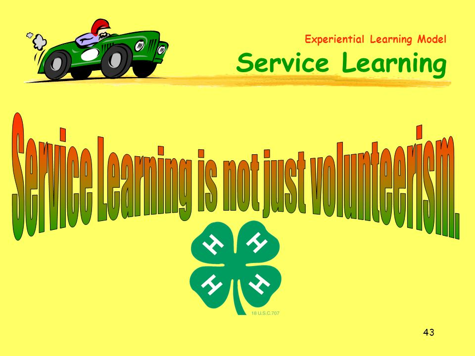 Experiential Learning Model Service Learning