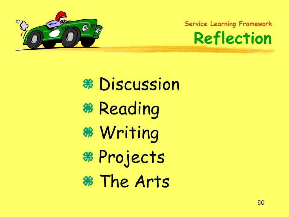 Discussion Reading Writing Projects The Arts
