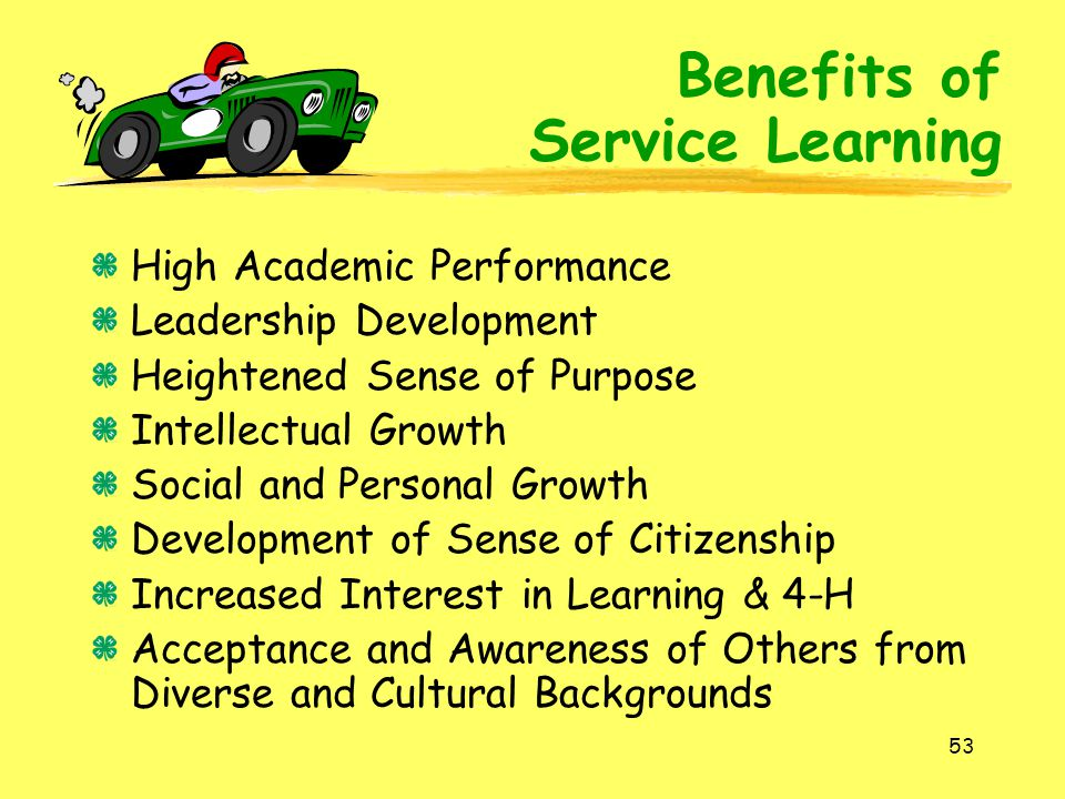 Benefits of Service Learning High Academic Performance
