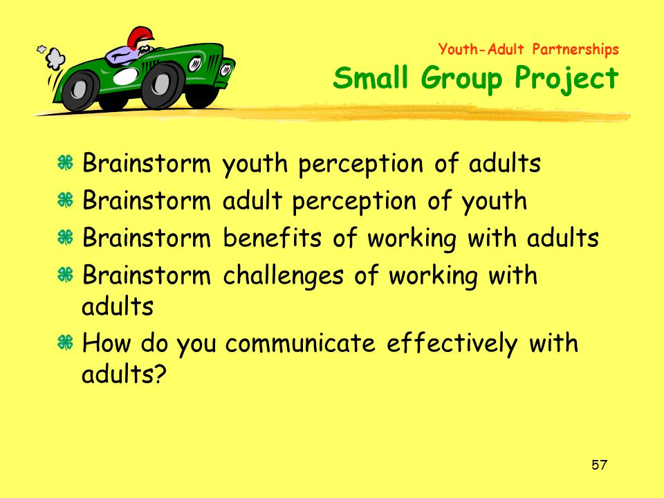 Brainstorm youth perception of adults