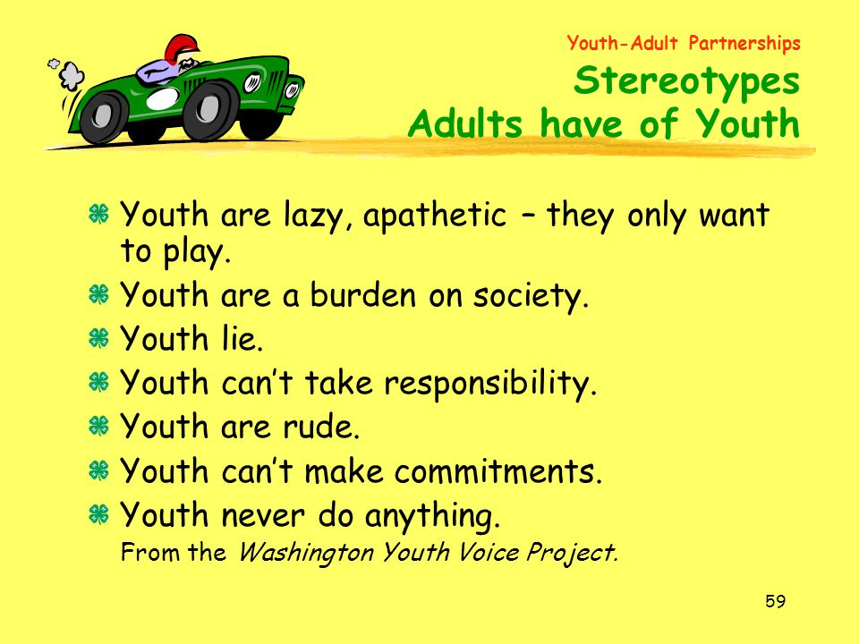 Youth-Adult Partnerships Stereotypes