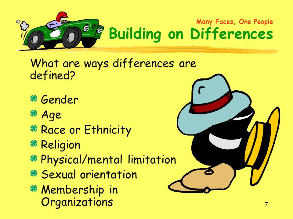 What are ways differences are defined