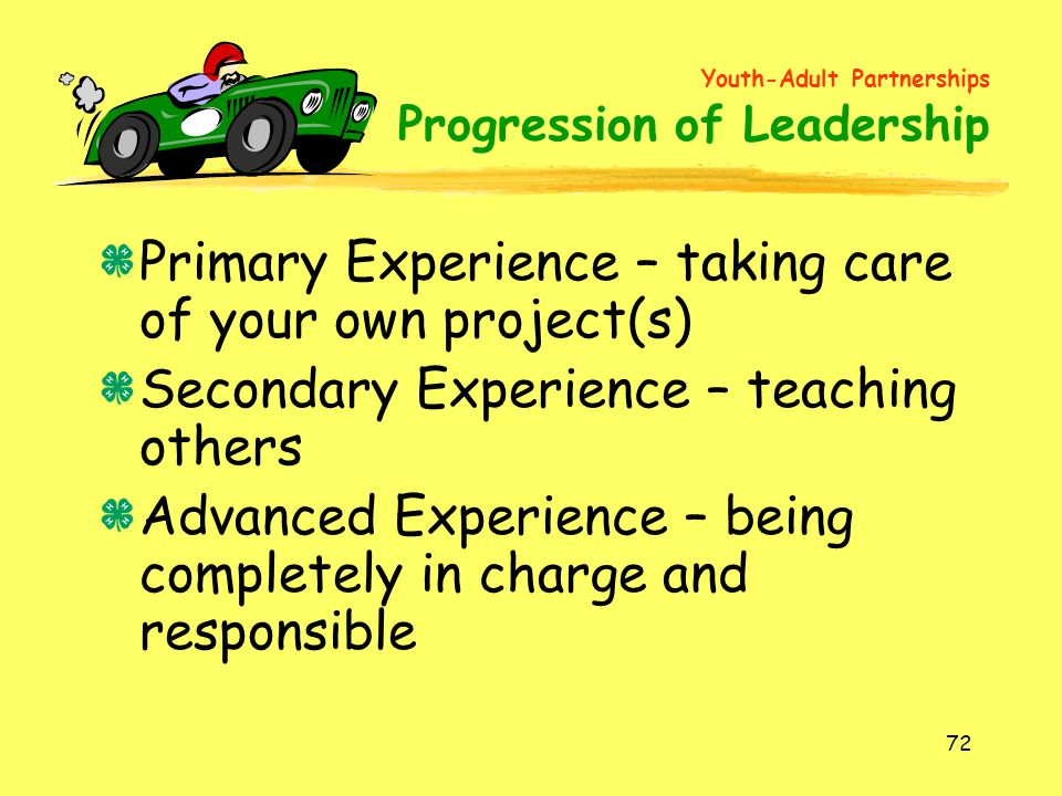 Primary Experience – taking care of your own project(s)