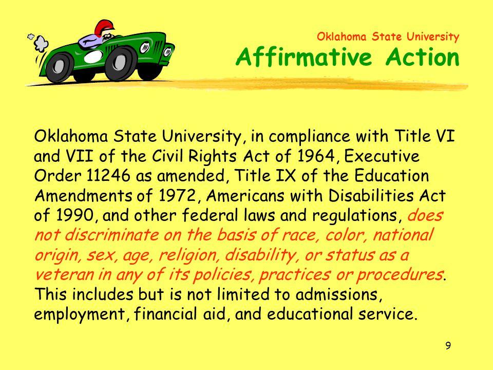 Oklahoma State University Affirmative Action