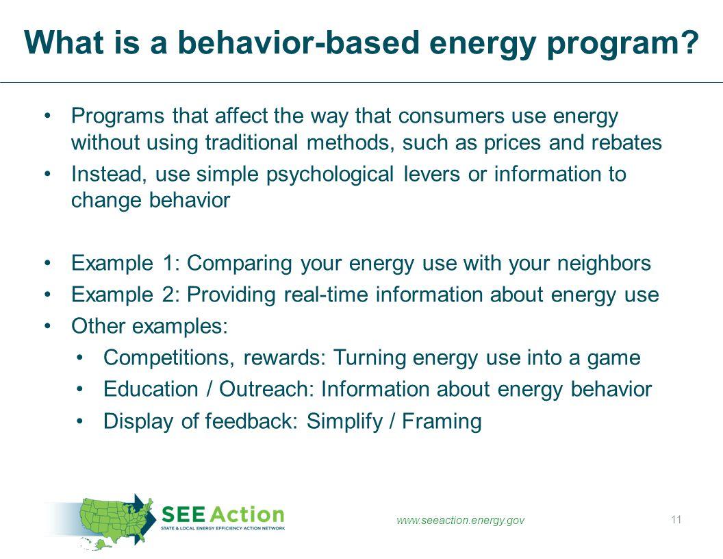 What is a behavior-based energy program