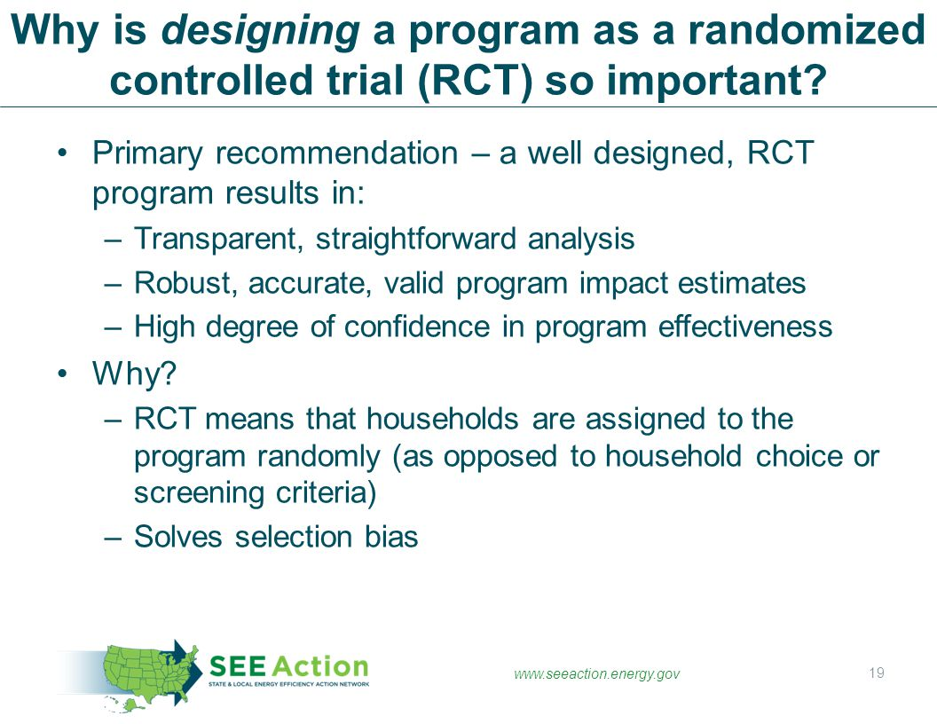 Why is designing a program as a randomized controlled trial (RCT) so important