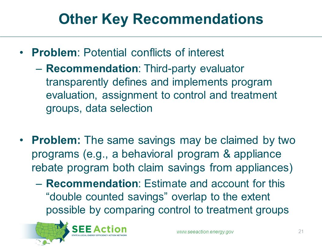 Other Key Recommendations