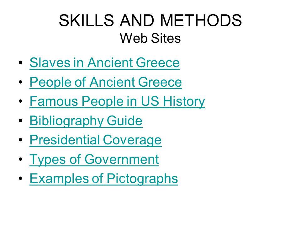SKILLS AND METHODS Web Sites