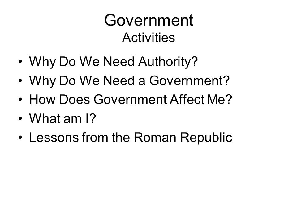 Government Activities