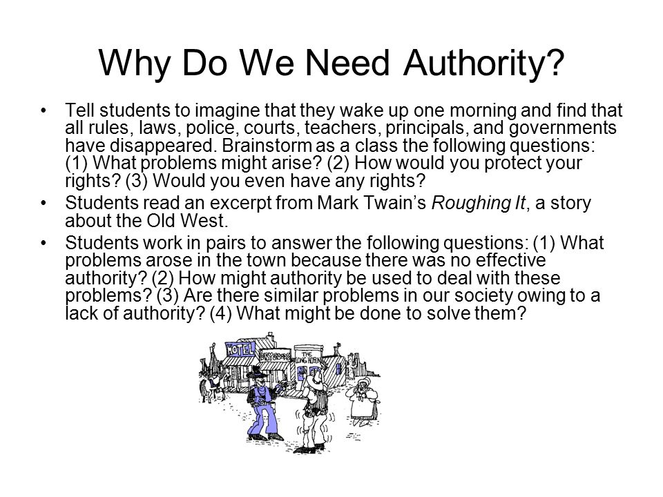 Why Do We Need Authority
