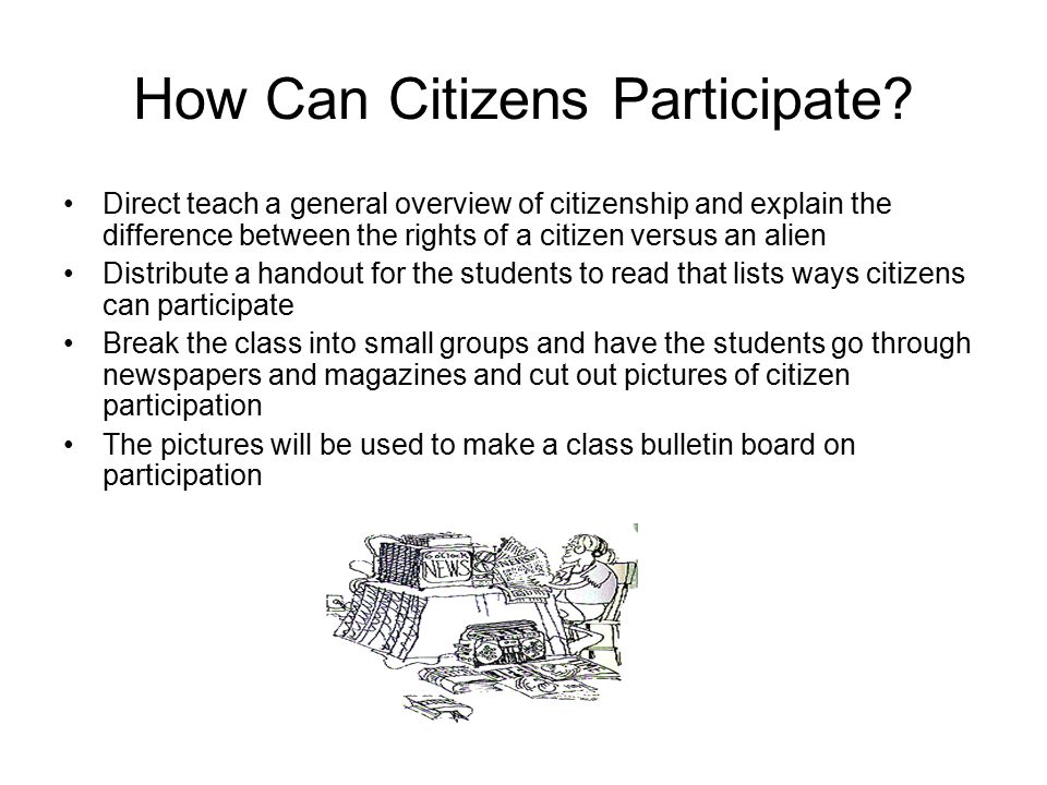 How Can Citizens Participate