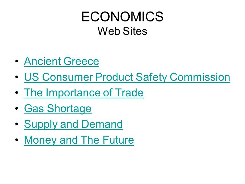 ECONOMICS Web Sites Ancient Greece