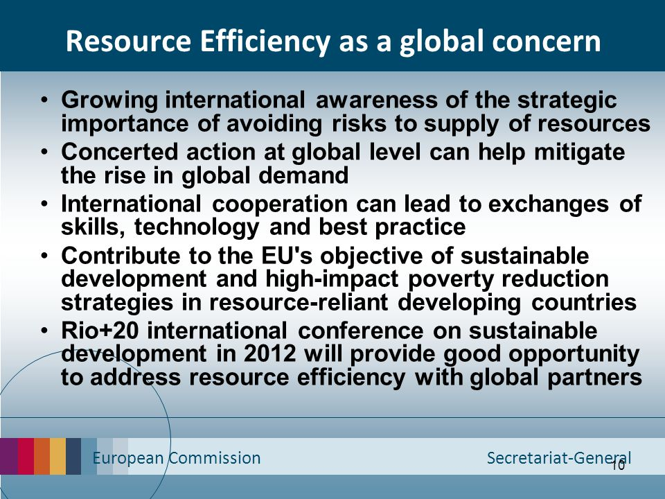 Resource Efficiency as a global concern