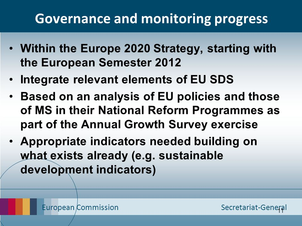 Governance and monitoring progress