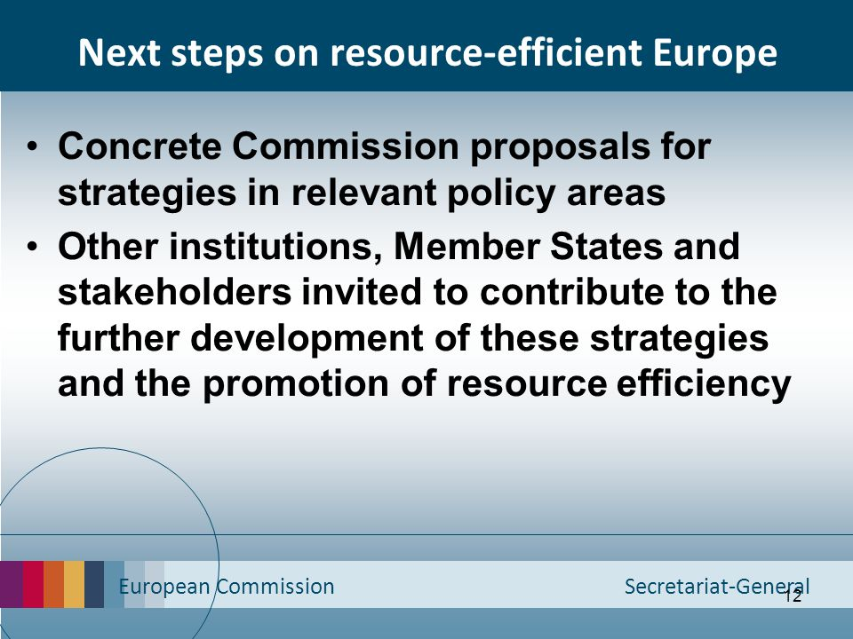 Next steps on resource-efficient Europe