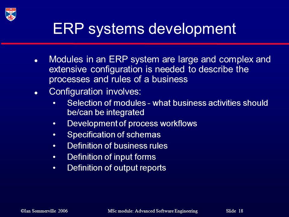 ERP systems development