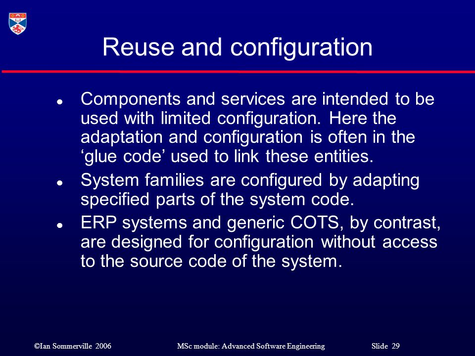 Reuse and configuration