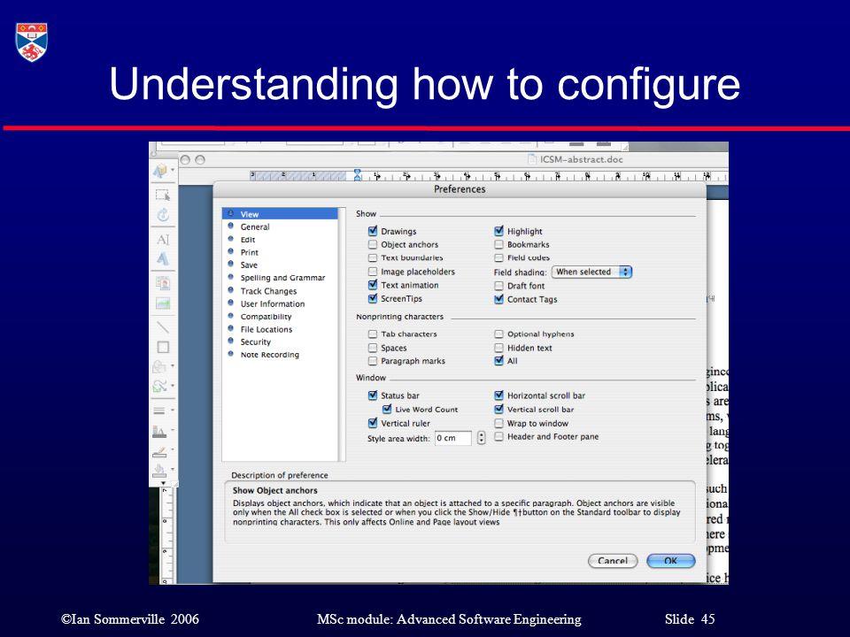 Understanding how to configure