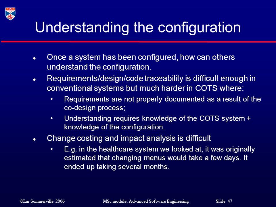 Understanding the configuration