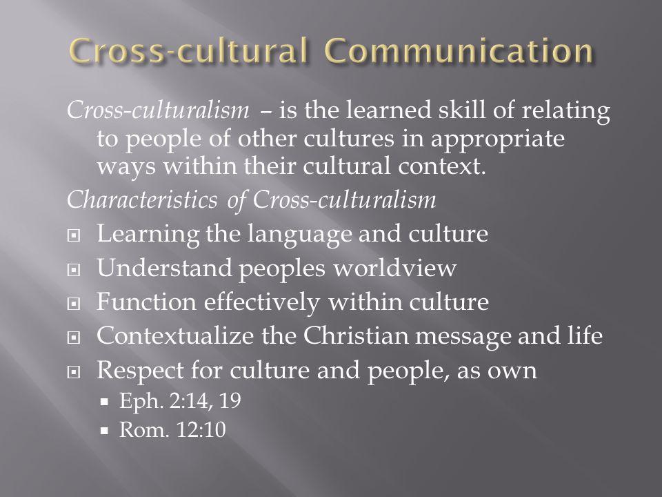 Cross-cultural Communication