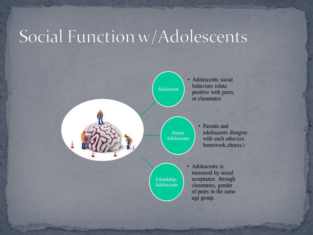 Social Function w/Adolescents