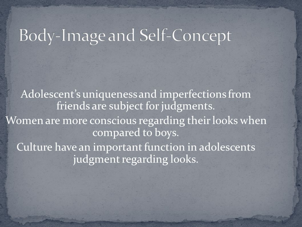 Body-Image and Self-Concept
