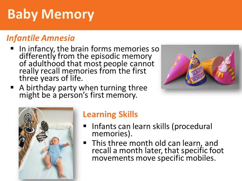 Baby Memory Infantile Amnesia Learning Skills