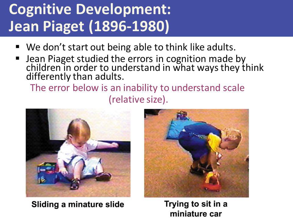 Cognitive Development: Jean Piaget (1896-1980)