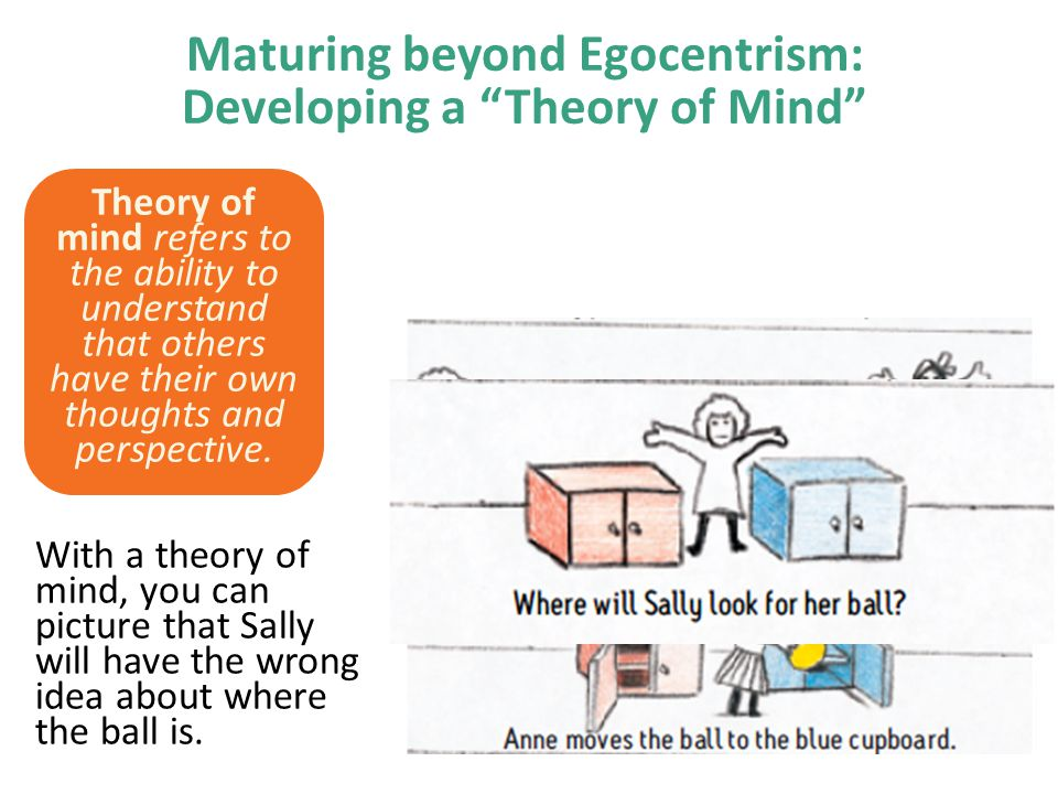 Maturing beyond Egocentrism: Developing a Theory of Mind