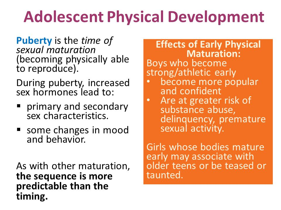 Adolescent Physical Development