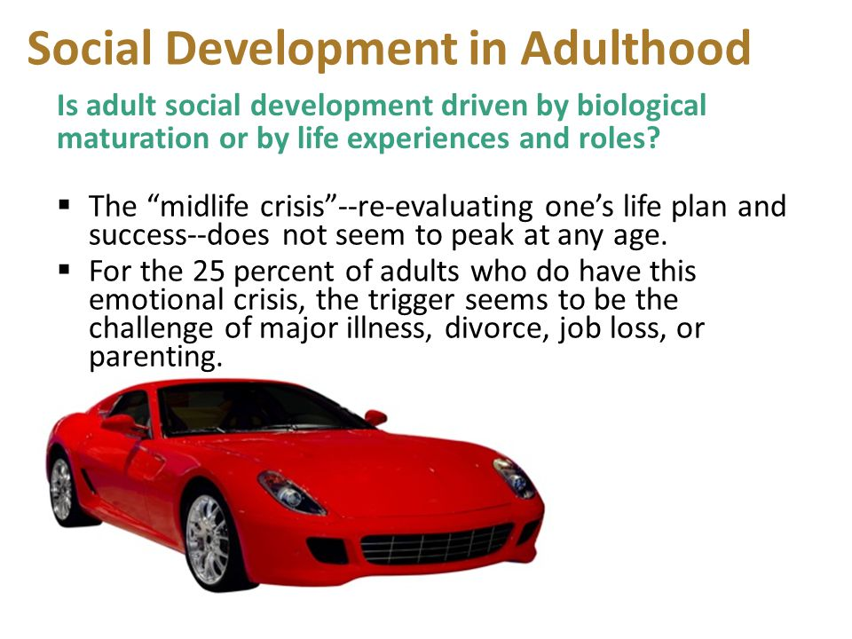 Social Development in Adulthood