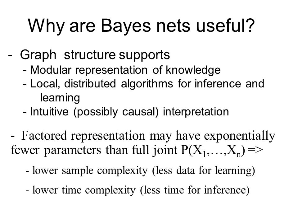 Why are Bayes nets useful