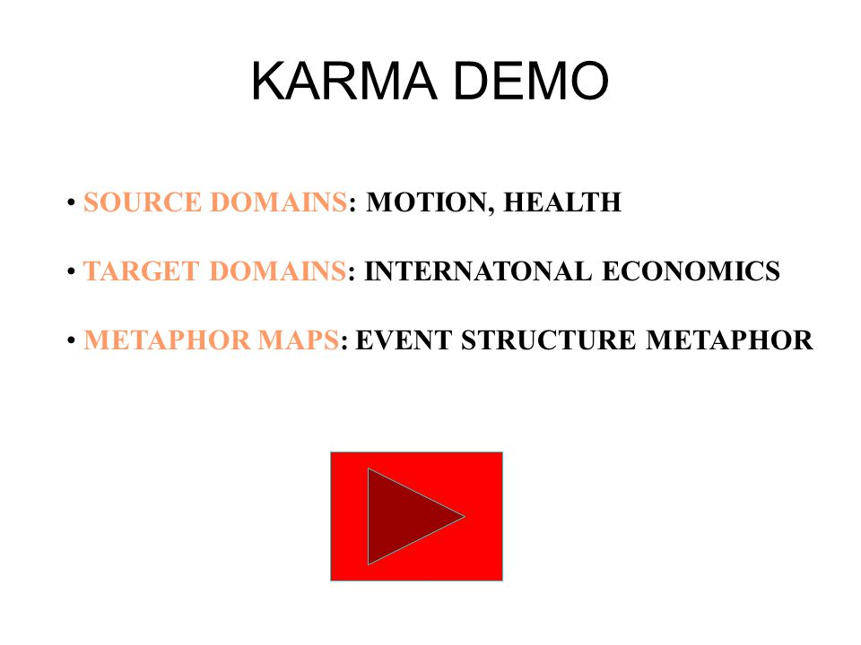 KARMA DEMO SOURCE DOMAINS: MOTION, HEALTH