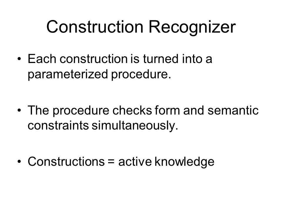 Construction Recognizer