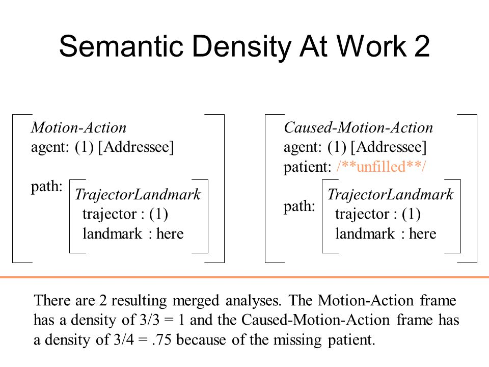 Semantic Density At Work 2
